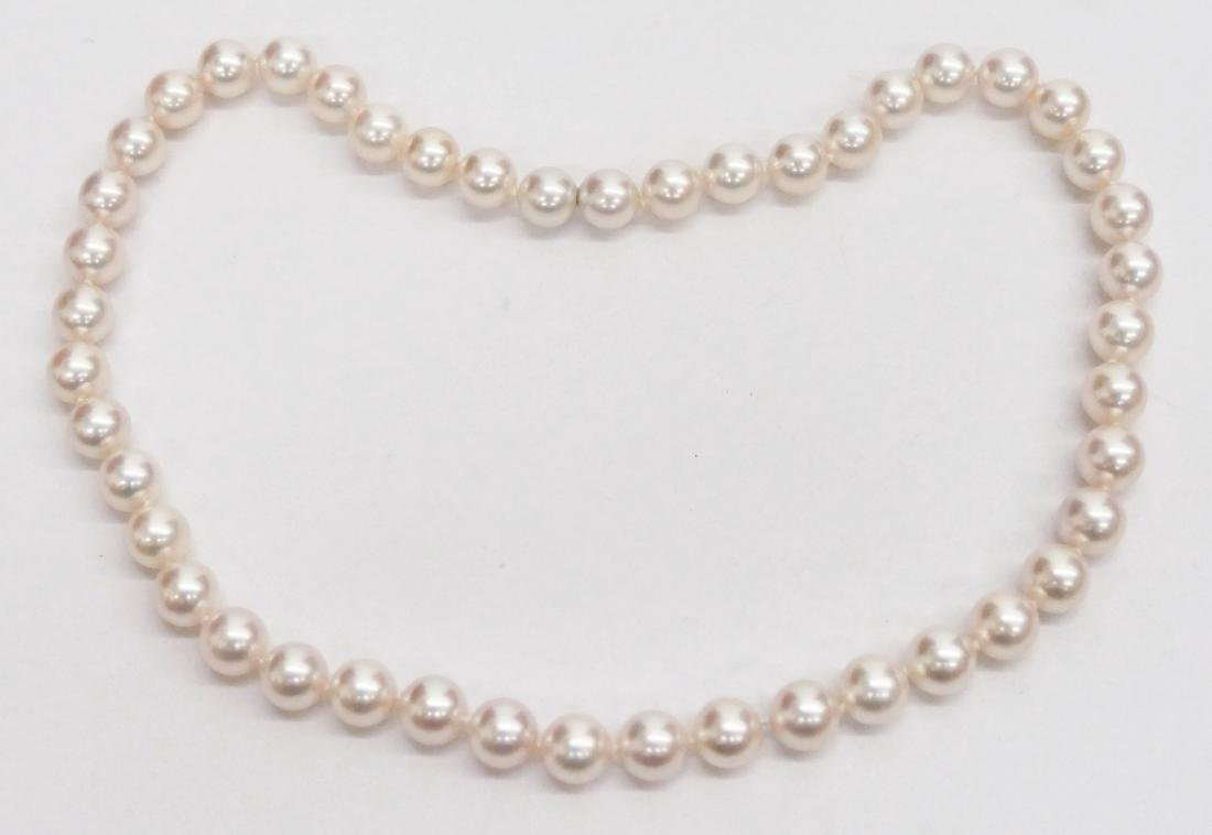 Lady's Creamrose Cultured Pearl Necklace 17''. Includes