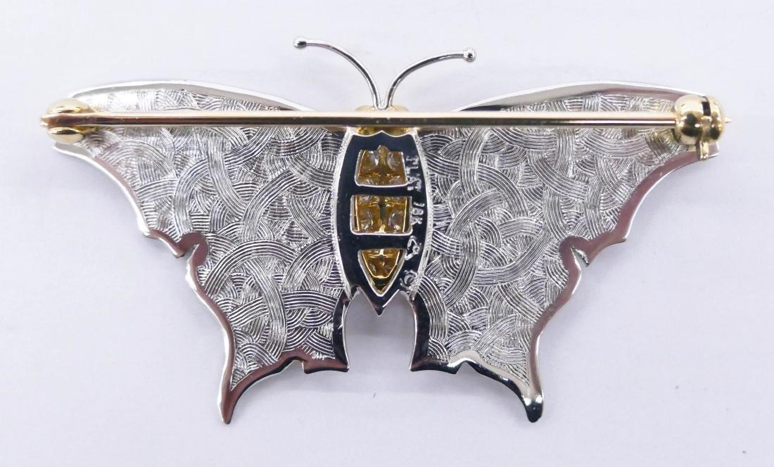 Carrera y Carrera Platinum & Diamond Butterfly Brooch - 2