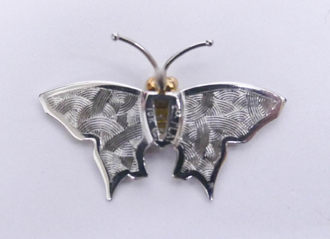 Carrera y Carrera Platinum & Diamond Butterfly Tie Tack - 2
