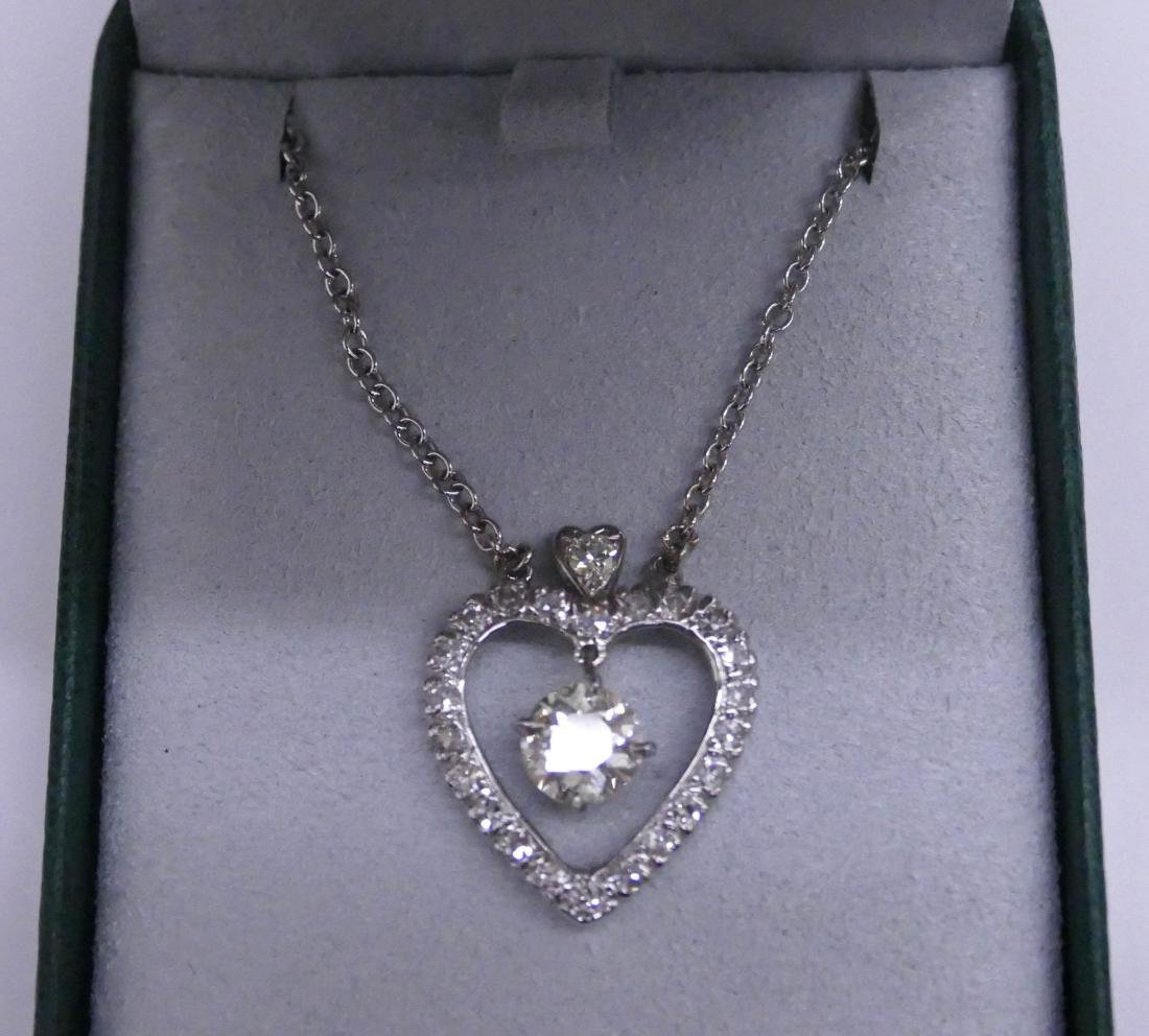 Lady's 2.39ctw Diamond Heart Pendant Necklace 24''. - 4
