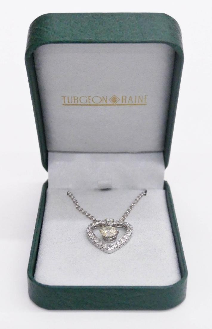 Lady's 2.39ctw Diamond Heart Pendant Necklace 24''. - 5