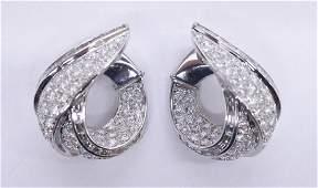 Fine Ambrosi Pair of Ladys 18k Diamond Earrings