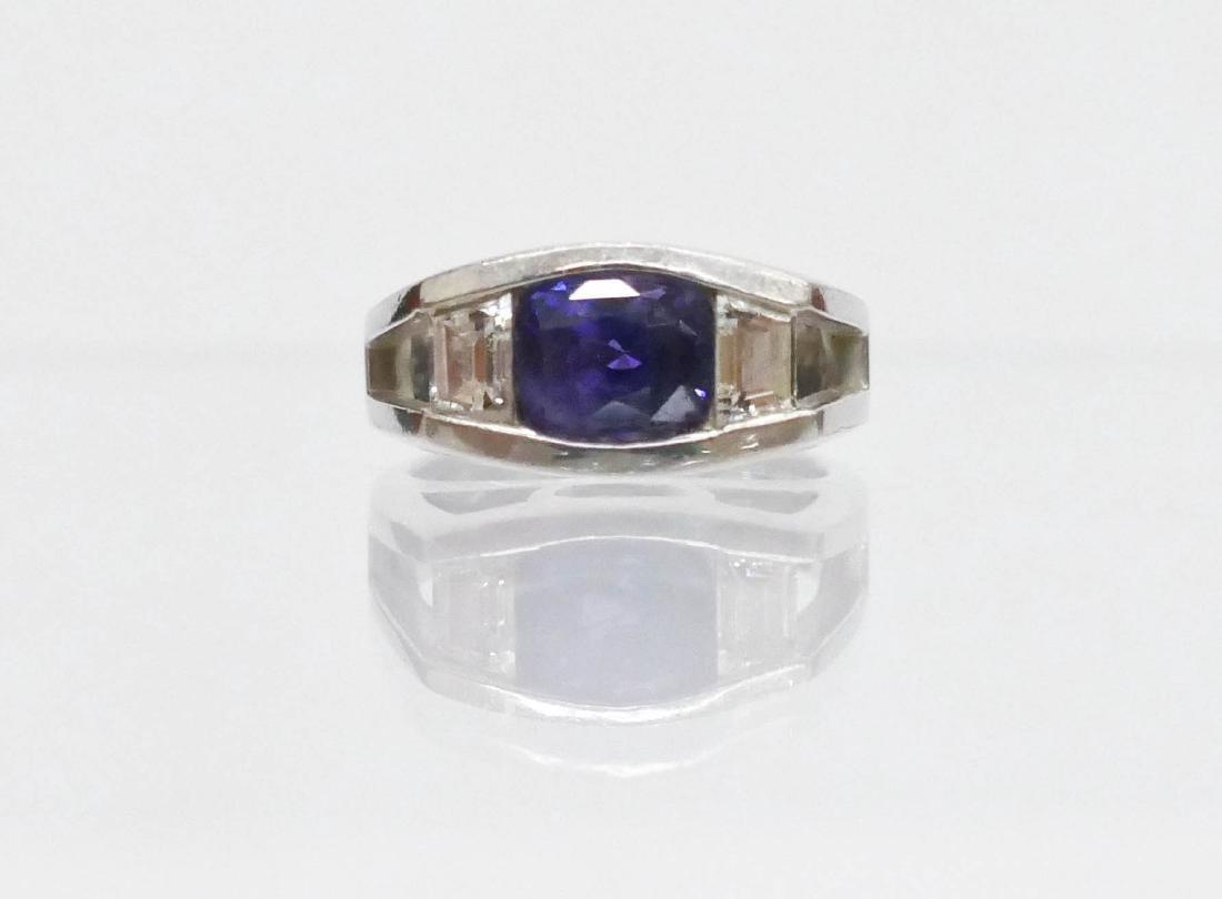 Turgeon Raine 3.2ct Natural Purple Sapphire & Diamond