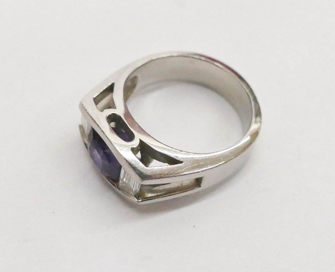 Turgeon Raine 3.2ct Natural Purple Sapphire & Diamond - 2