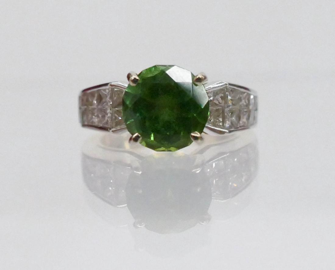 Christopher Lady's 18k Green Tourmaline & Diamond Ring