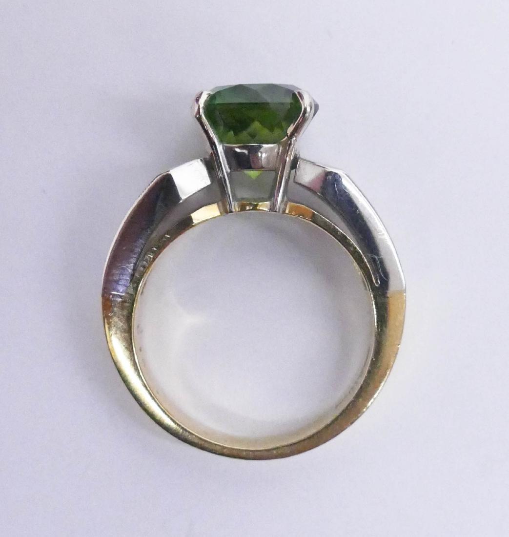 Christopher Lady's 18k Green Tourmaline & Diamond Ring - 3