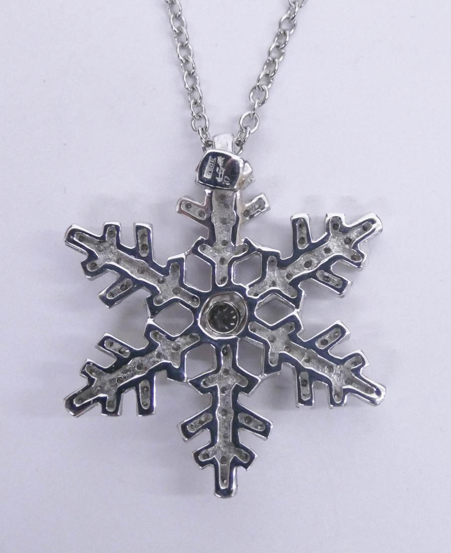Craig Drake 18k Diamond Snowflake Pendant Necklace - 2