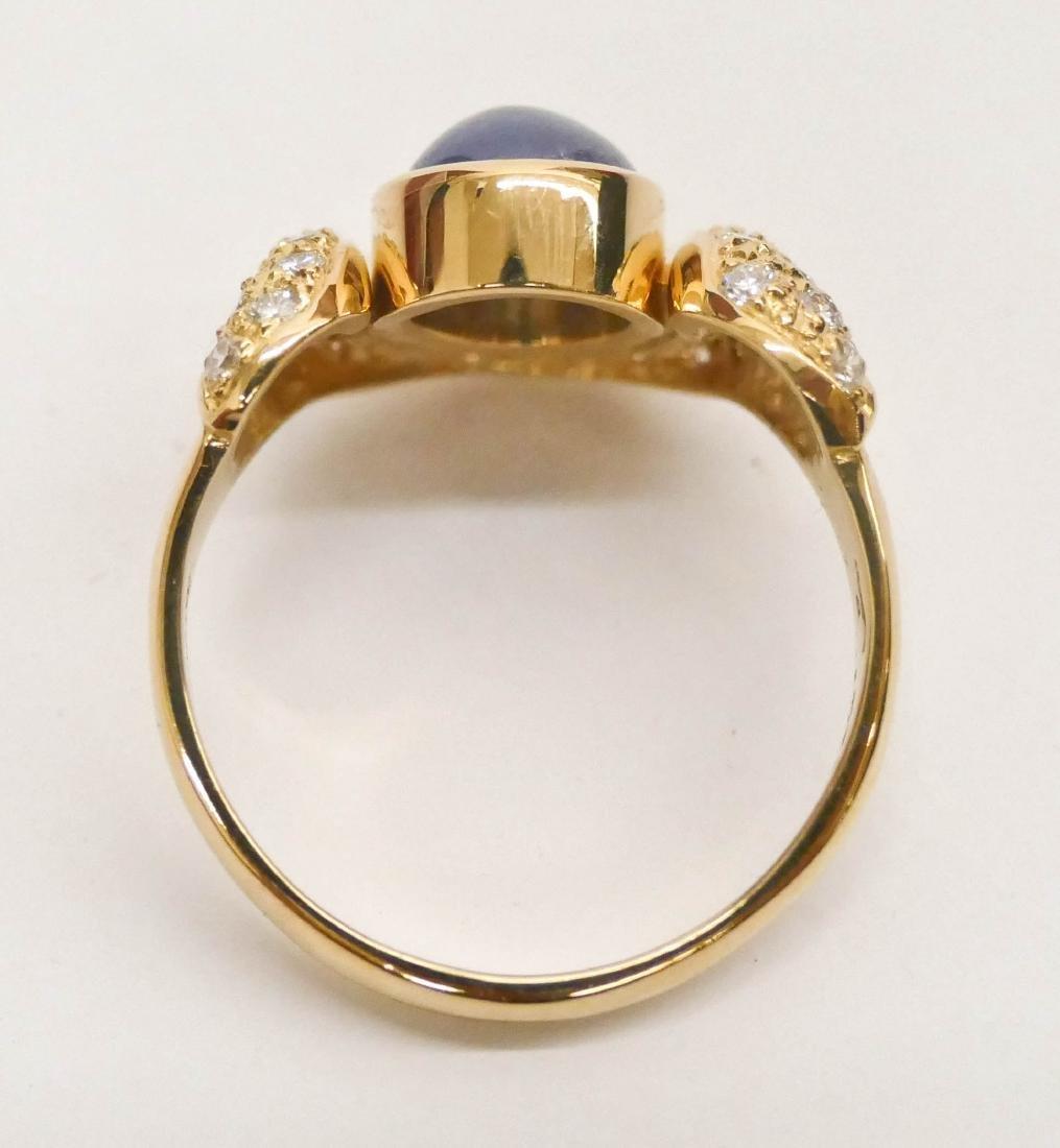 Brinkhaus Lady's 2.5ct Star Sapphire & Diamond 18k Ring - 3