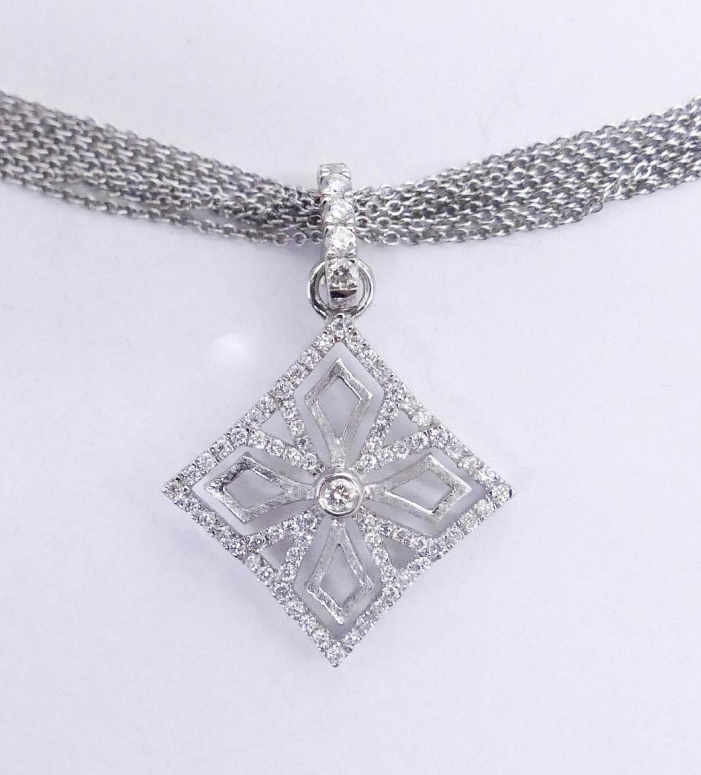 Schofer 18k Diamond Cross Pendant Necklace 15''.