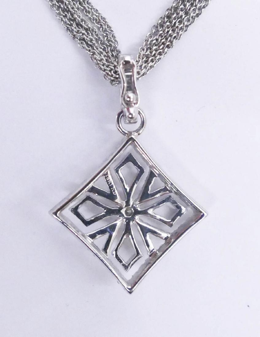 Schofer 18k Diamond Cross Pendant Necklace 15''. - 2