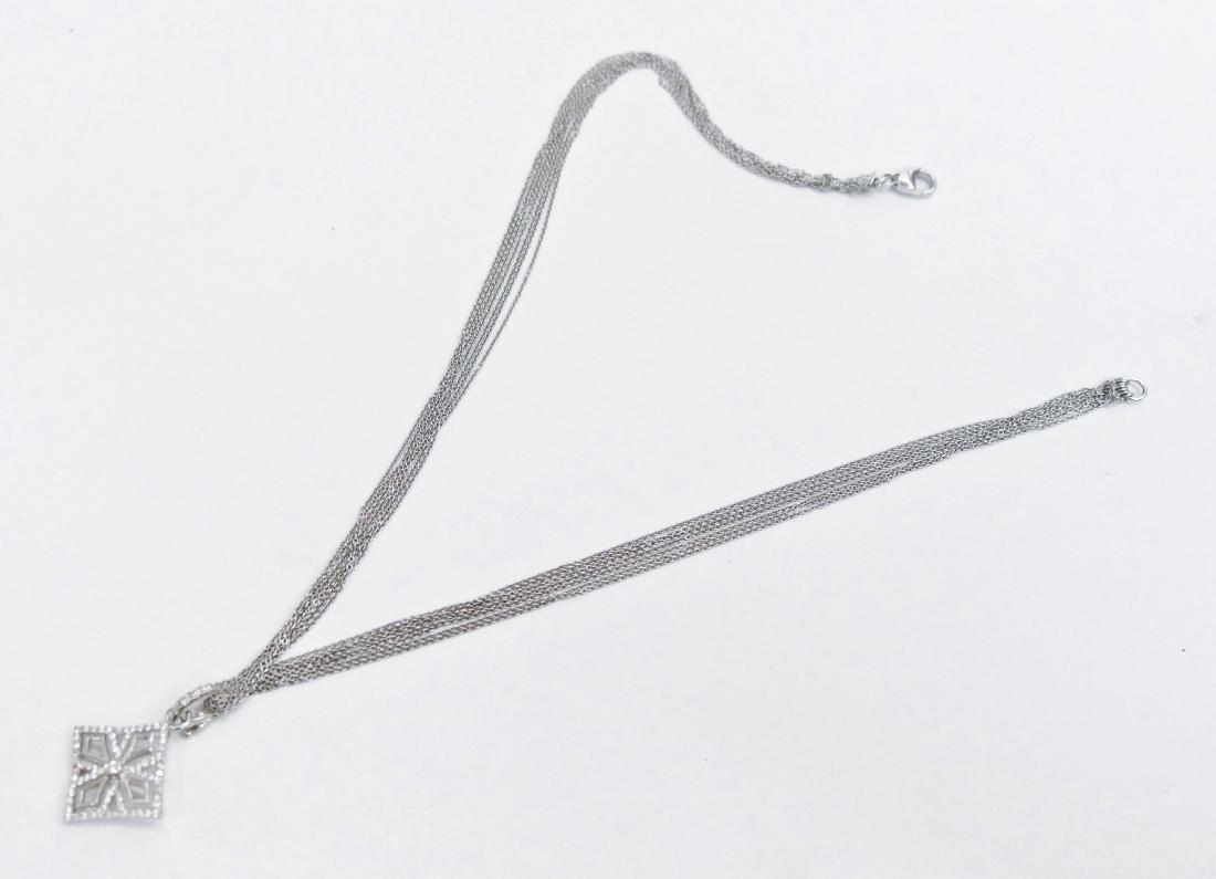 Schofer 18k Diamond Cross Pendant Necklace 15''. - 3