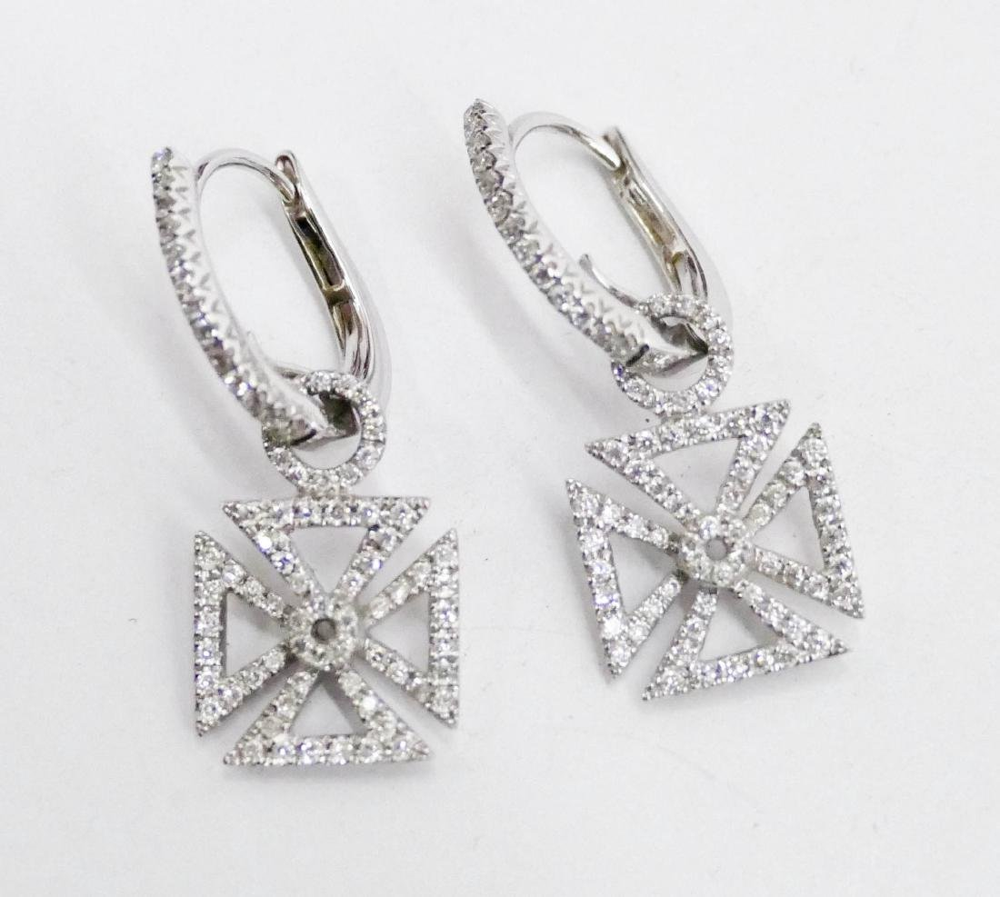 Hidalgo Pair of Lady's 18k Diamond Maltese Cross