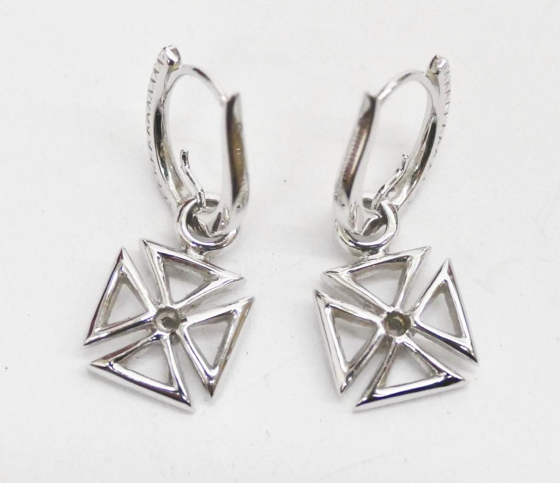 Hidalgo Pair of Lady's 18k Diamond Maltese Cross - 3