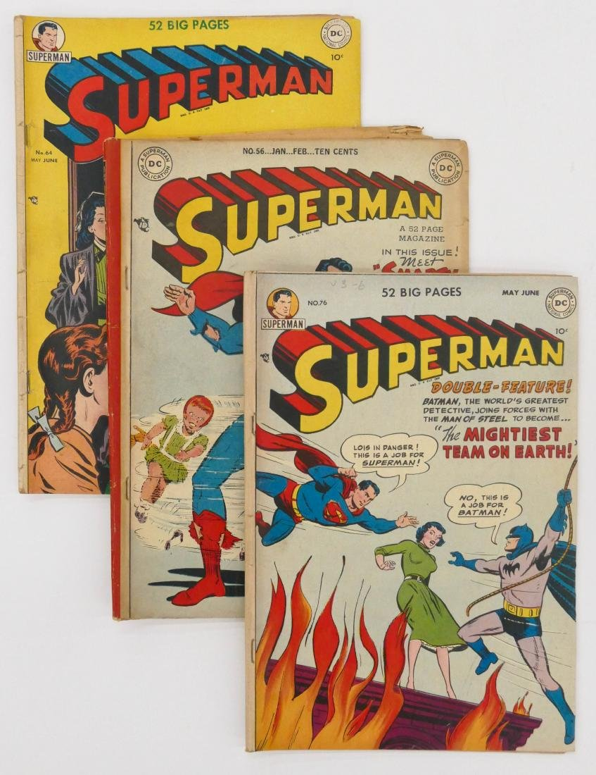 10pc Superman Golden Age Comic Books. Includes issues