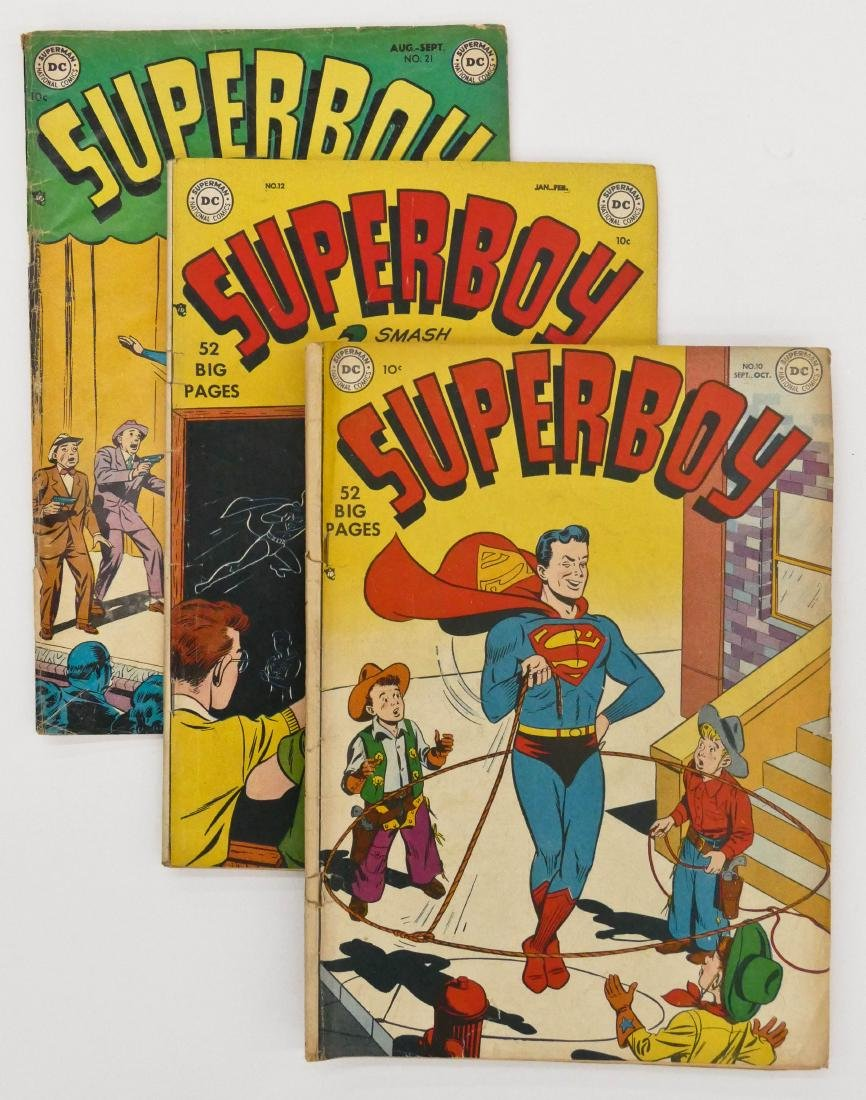 5pc Superboy Golden Age Comic Books. Includes issues 10