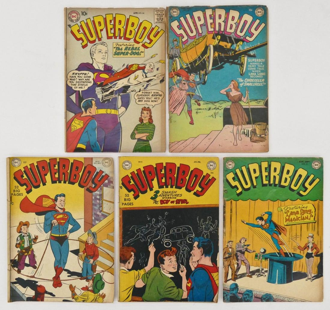 5pc Superboy Golden Age Comic Books. Includes issues 10 - 2