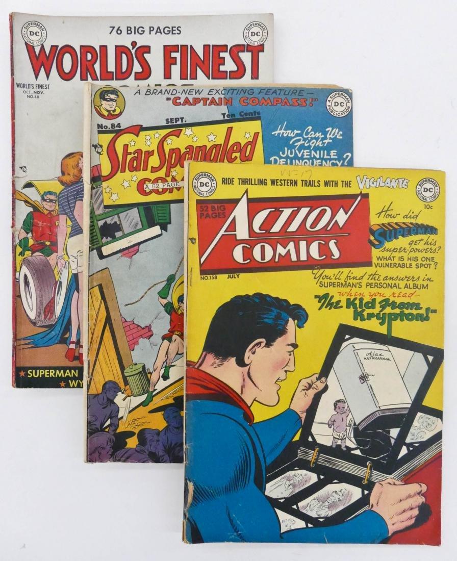 5pc Batman & Superman Golden Age Comics. Includes Star