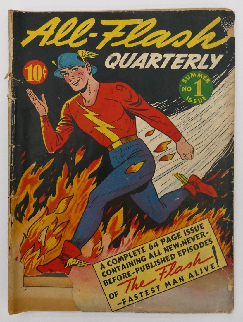 All-Flash Quarterly #1 Summer 1941 Comic Book. A rare