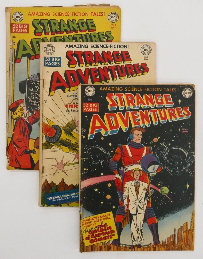 15pc Strange Adventures Golden Age Comic Books.