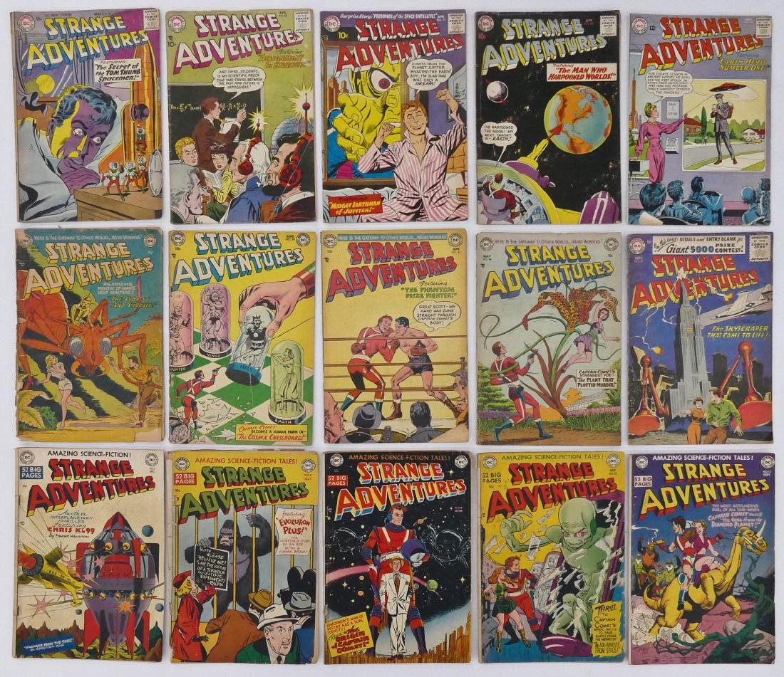 15pc Strange Adventures Golden Age Comic Books. - 2