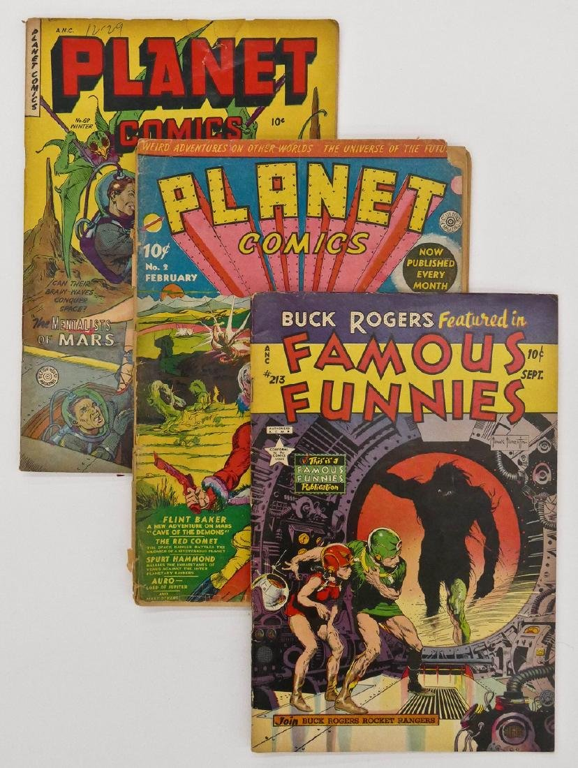 3pc Science Fiction Golden Age Comic Books. Includes