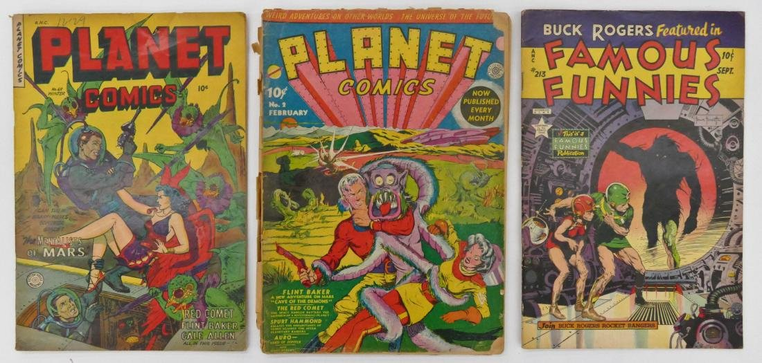 3pc Science Fiction Golden Age Comic Books. Includes - 2