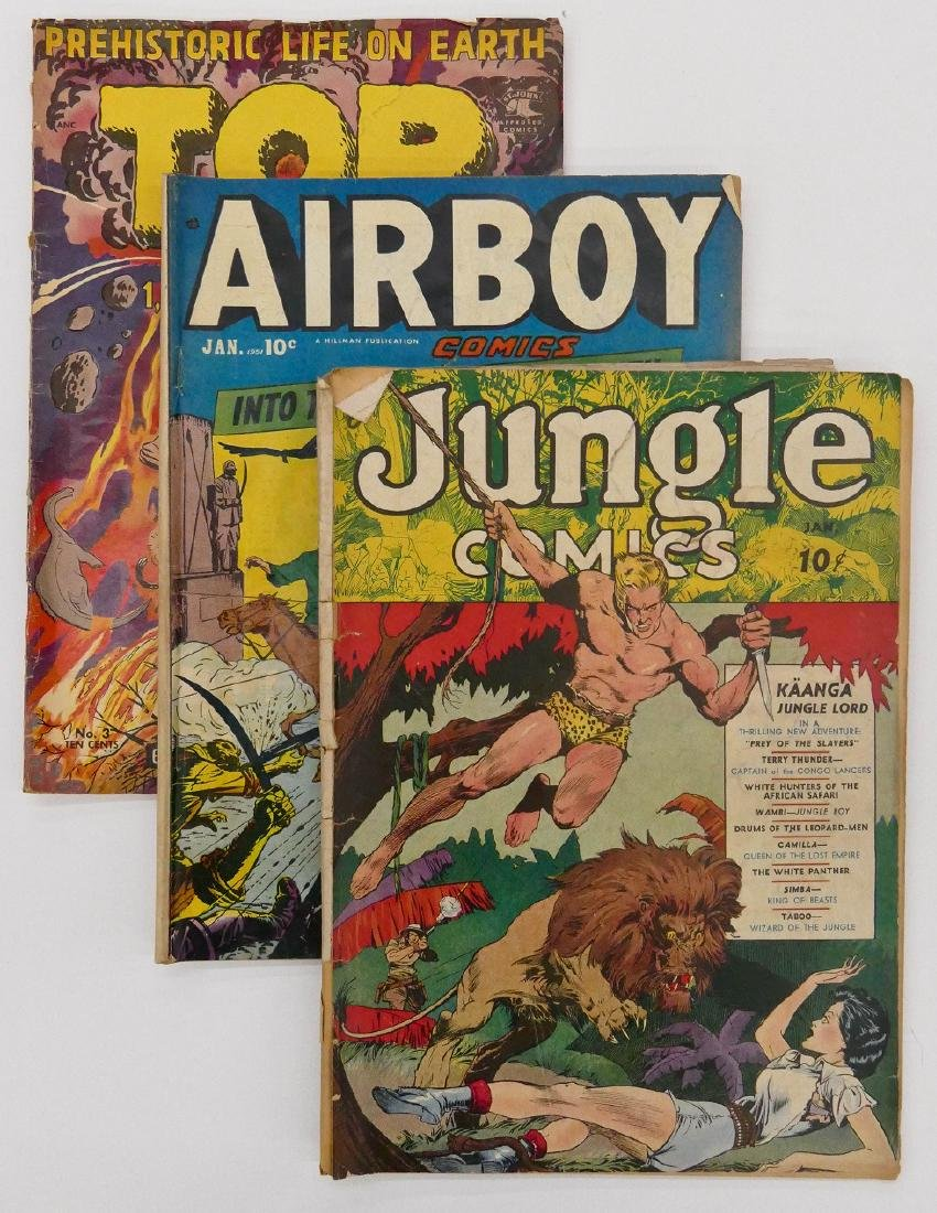 5pc Jungle & Air Golden Age Comic Books. Inlcudes