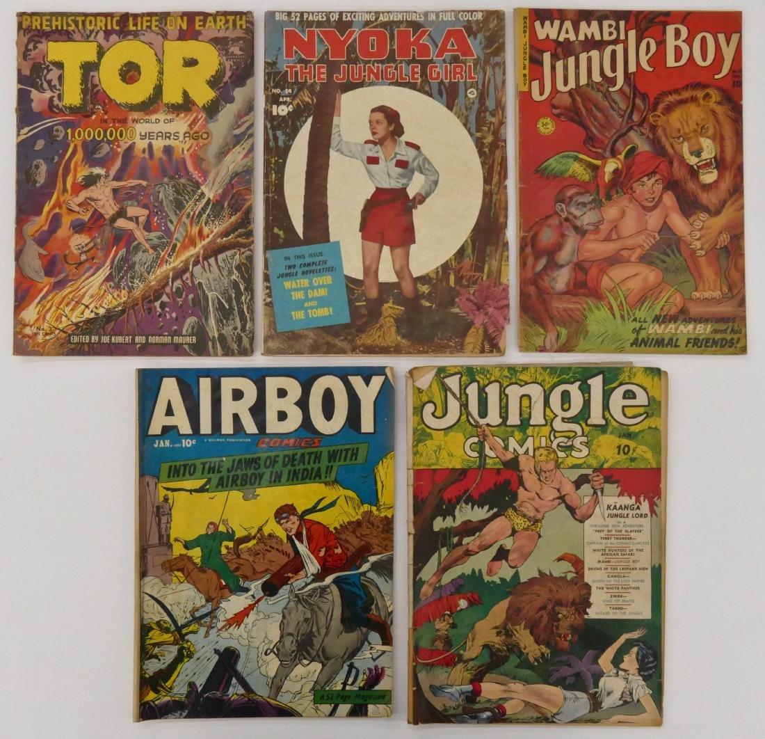 5pc Jungle & Air Golden Age Comic Books. Inlcudes - 2