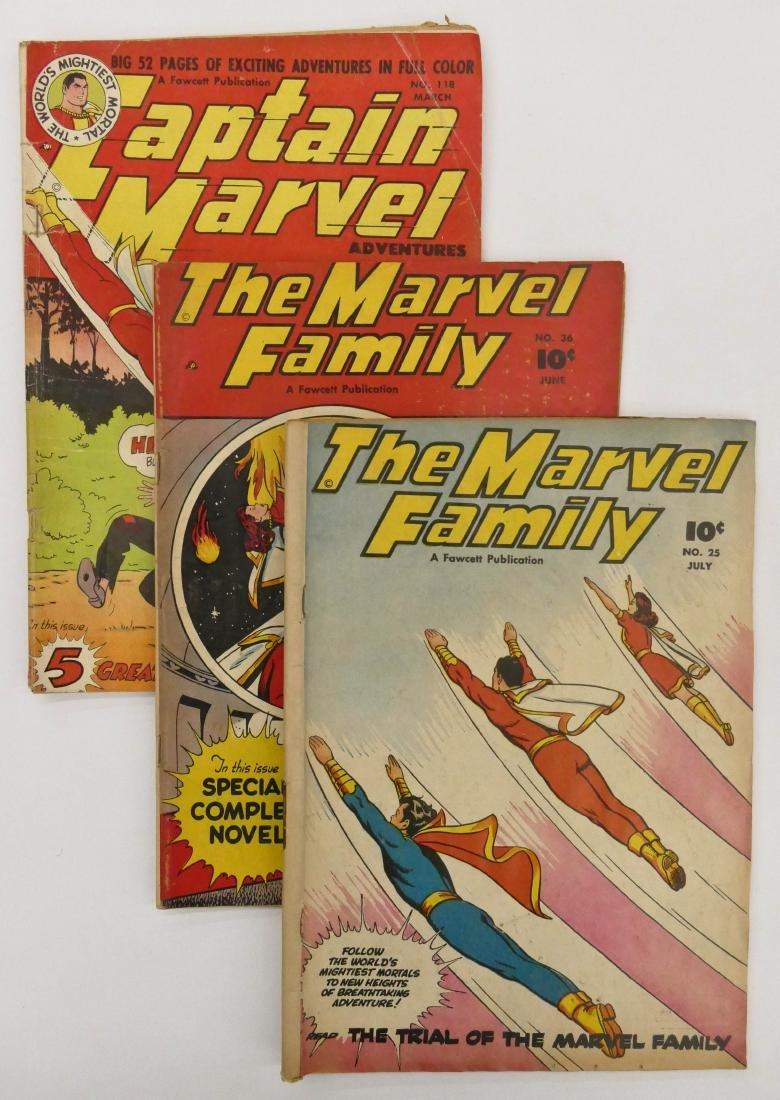 7pc Captain Marvel Golden Age Comic Books. Includes The