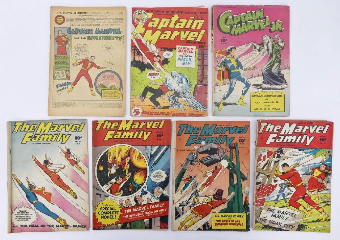 7pc Captain Marvel Golden Age Comic Books. Includes The - 2