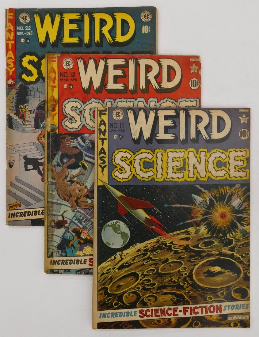 9pc Weird Science Golden Age Comic Books. Includes