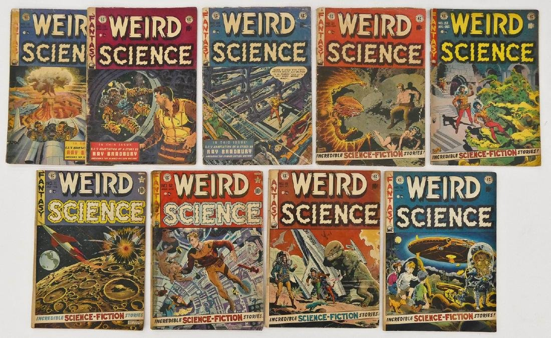 9pc Weird Science Golden Age Comic Books. Includes - 2