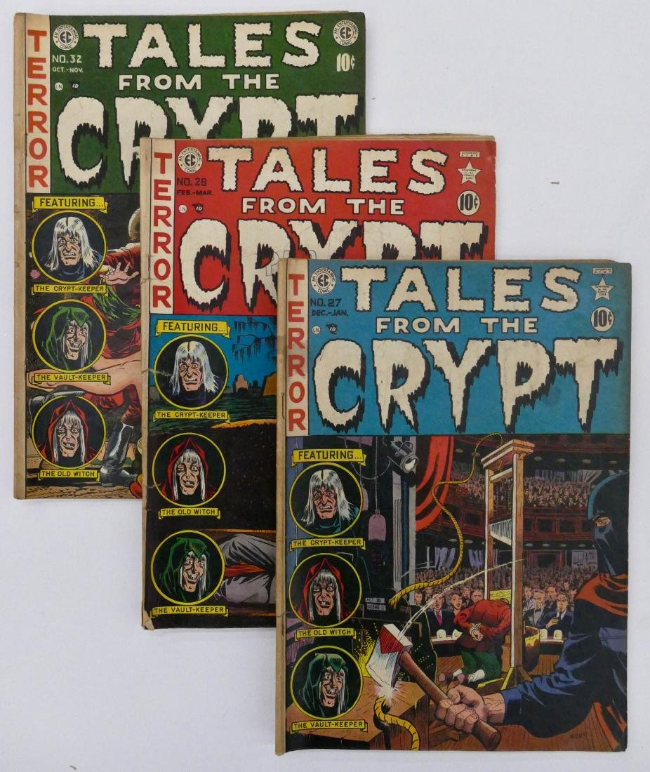 15pc Tales From the Crypt Golden Age Comic Books.