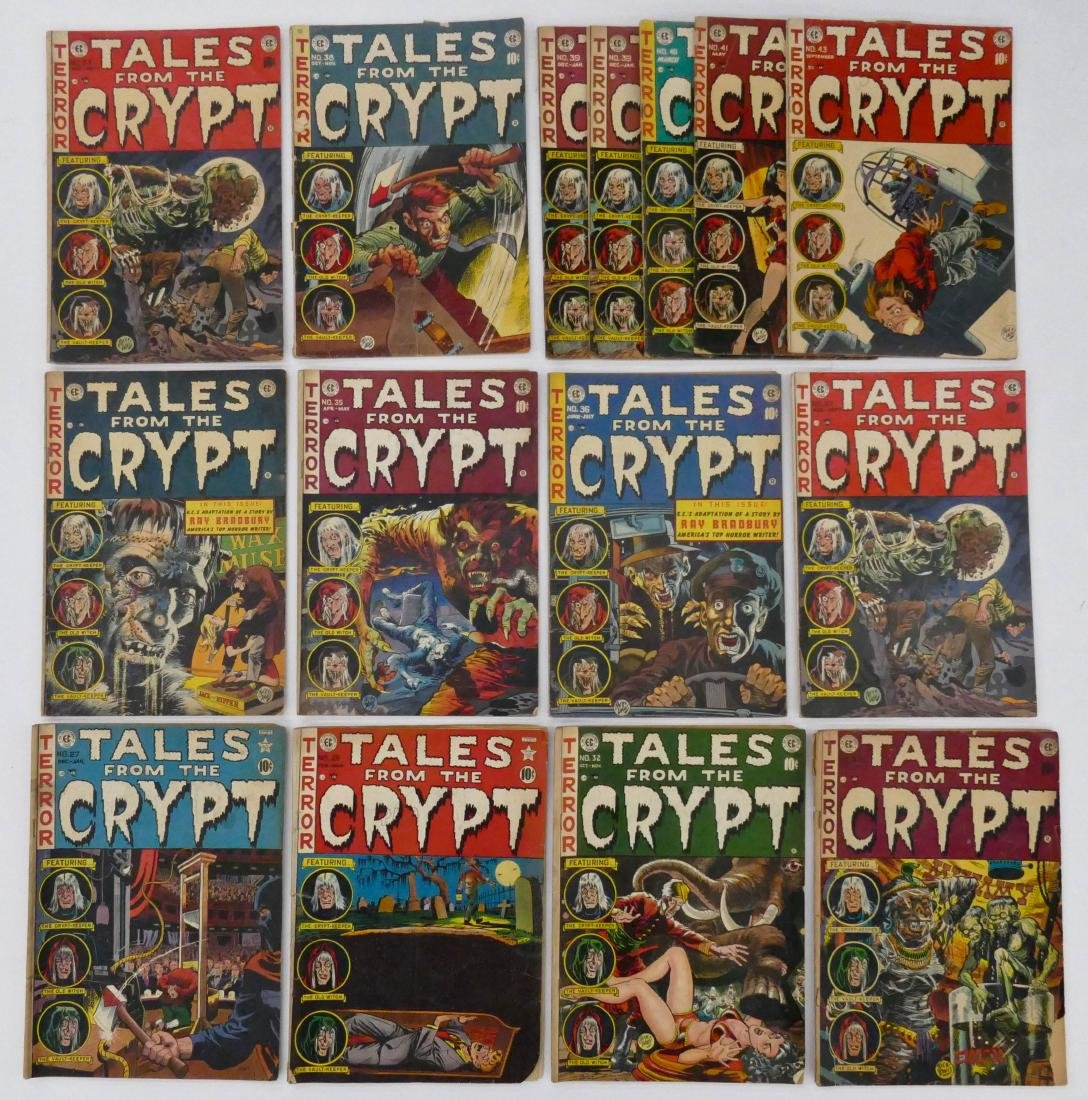 15pc Tales From the Crypt Golden Age Comic Books. - 2