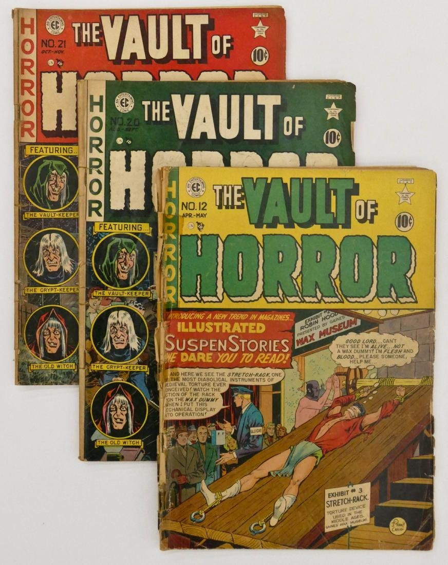 17pc The Vault of Horror Golden Age Comic Books.