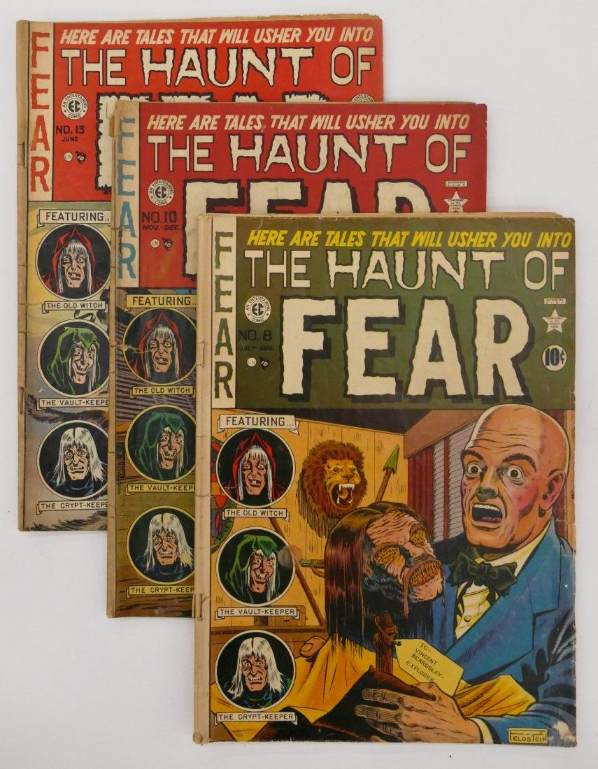 19pc The Haunt of Fear Golden Age Comic Books. Includes