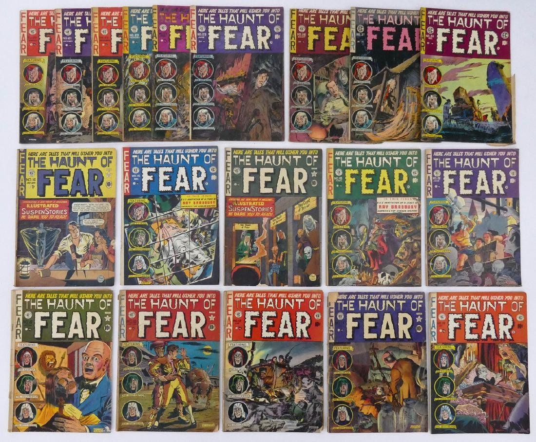 19pc The Haunt of Fear Golden Age Comic Books. Includes - 2