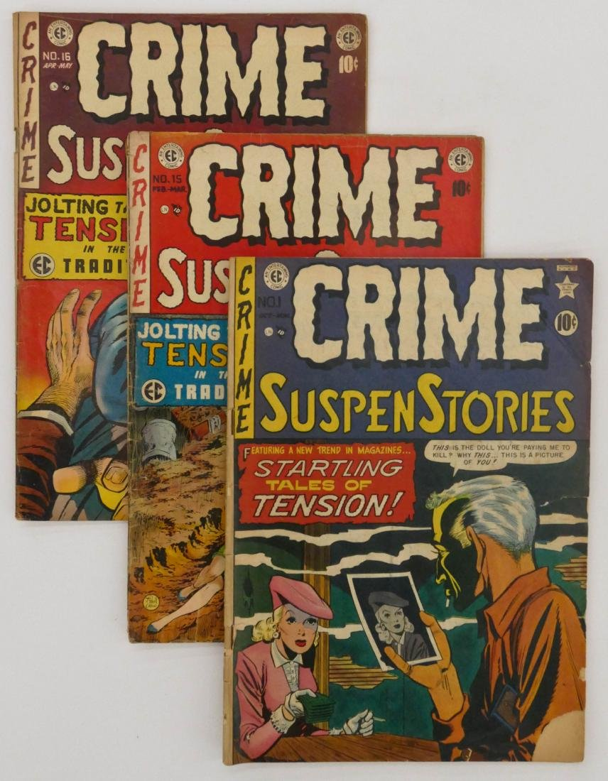 11pc Crime SuspenStories Golden Age Comic Books.