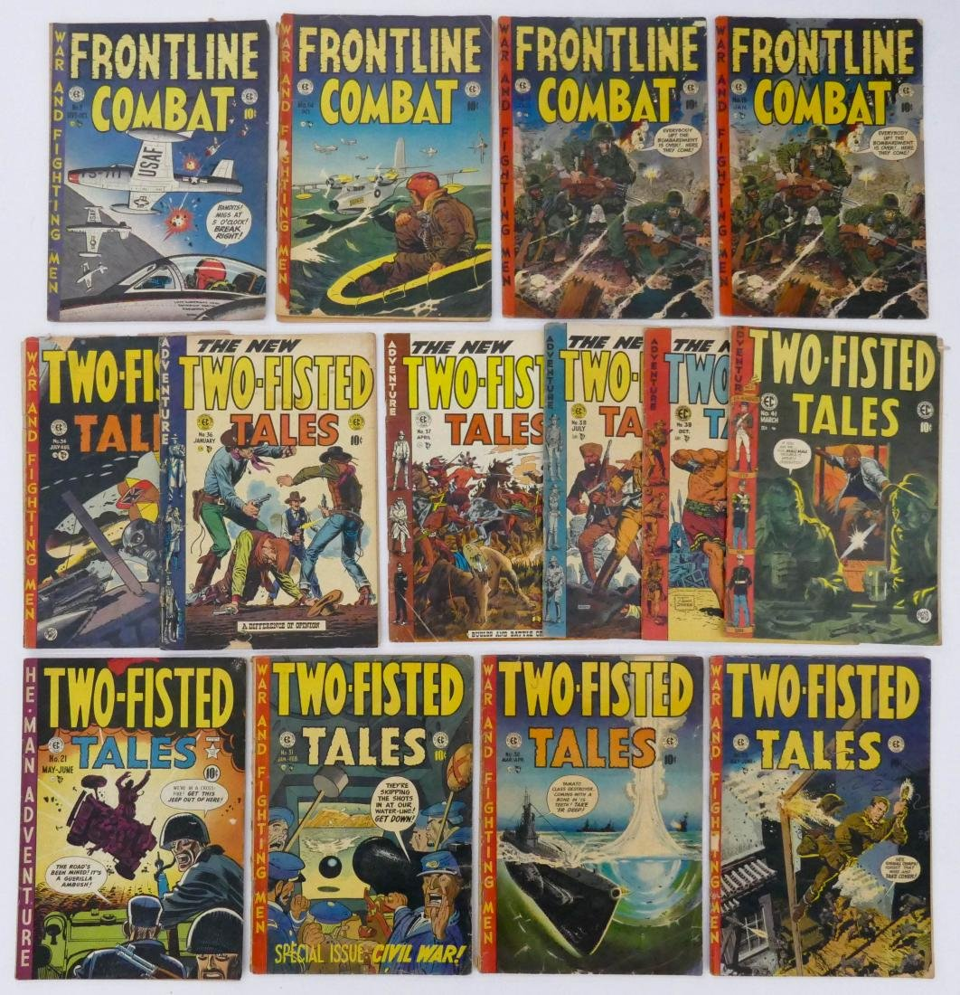 14pc Two-Fisted Tales & Frontline Combat Golden Age - 2