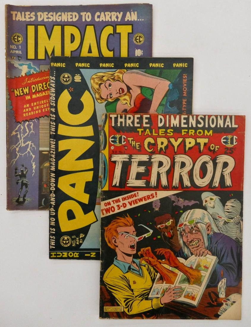 9pc Various EC Comics Golden Age Comic Books. Includes