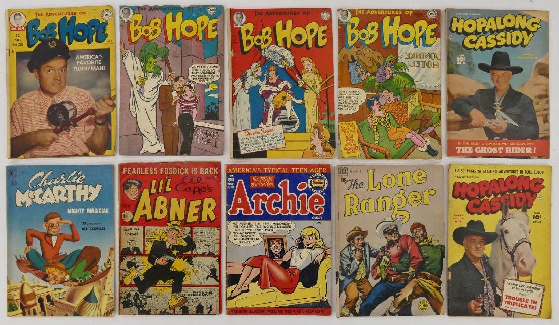 10pc Character Golden Age Comic Books. Includes Charlie - 2