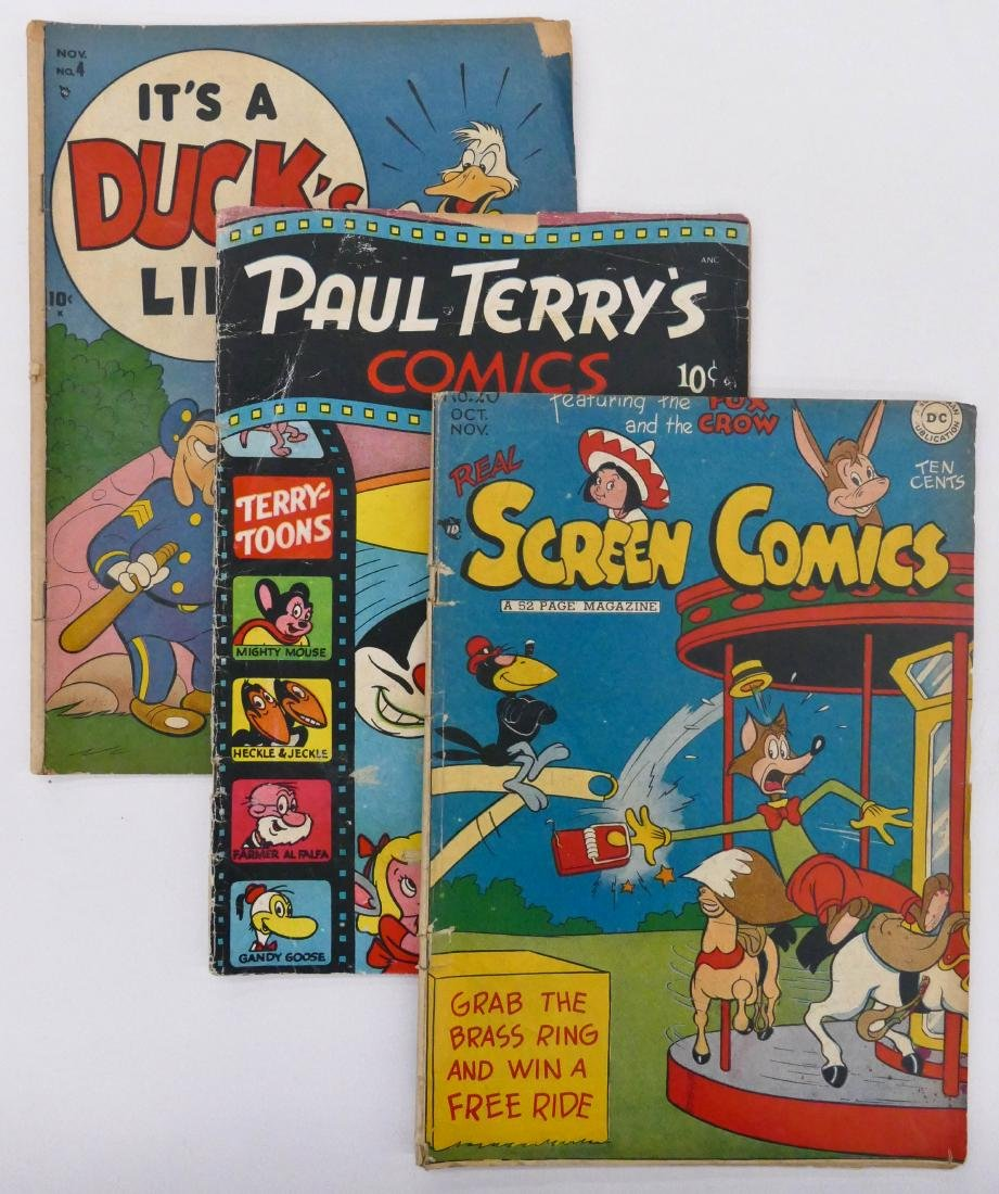 15pc Cartoon Golden Age Comic Books. Includes Paul