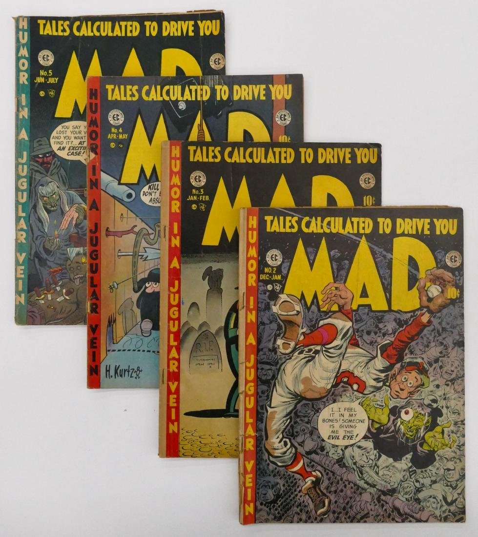 46pc Early MAD Golden Age Comic Books & Magazines.