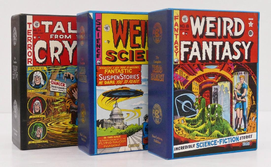 3pc EC Comics Volume Book Sets in Slipcases. Includes