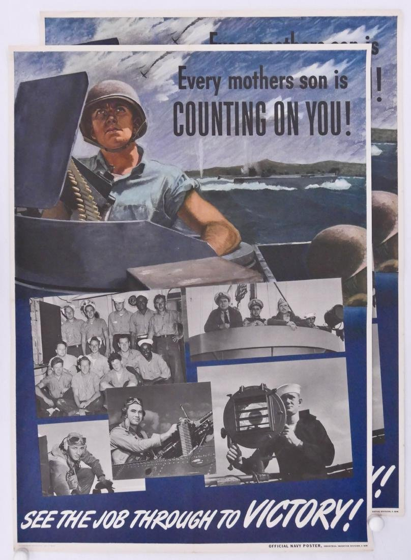 2pc WWII Counting on You! US Navy War Posters