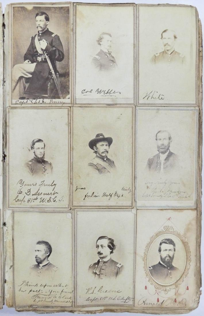 "Civil War CDV Scrapbook of Union Soldiers 12""x8"". This - 3"