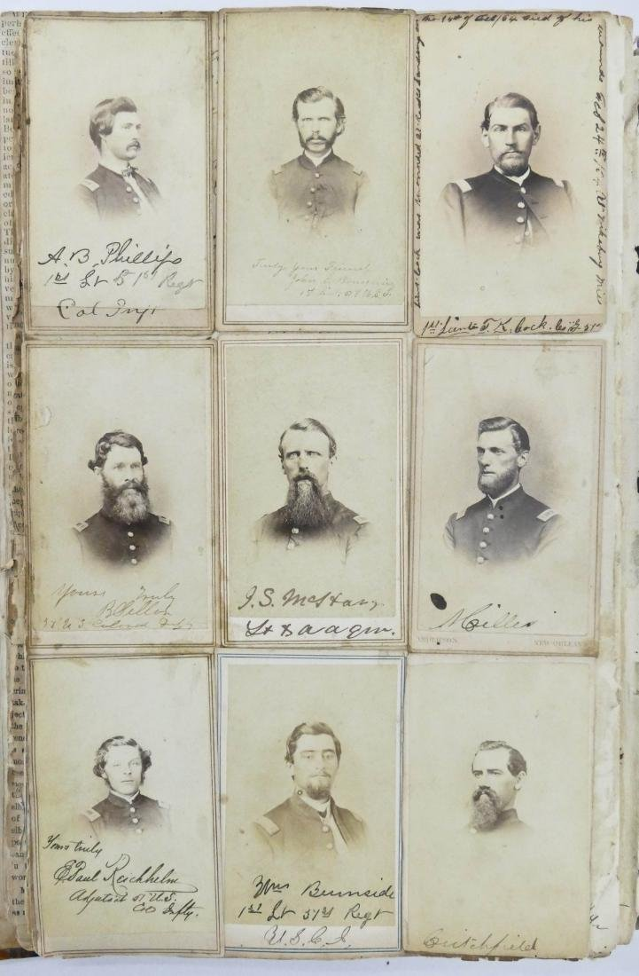 "Civil War CDV Scrapbook of Union Soldiers 12""x8"". This - 4"