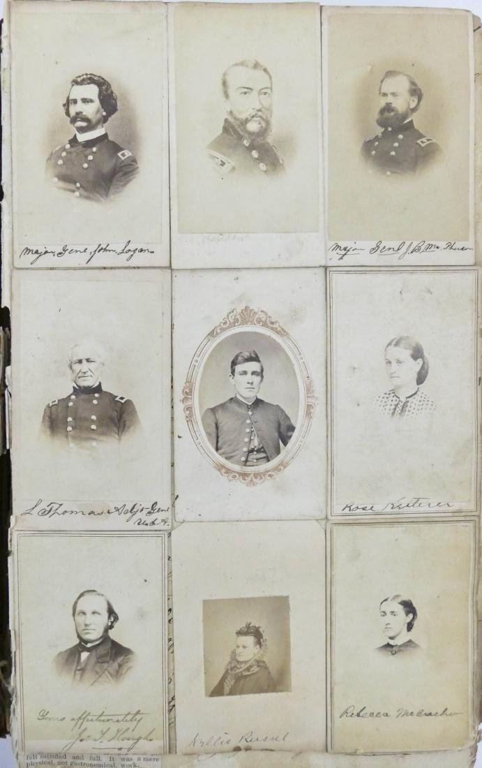 "Civil War CDV Scrapbook of Union Soldiers 12""x8"". This - 7"