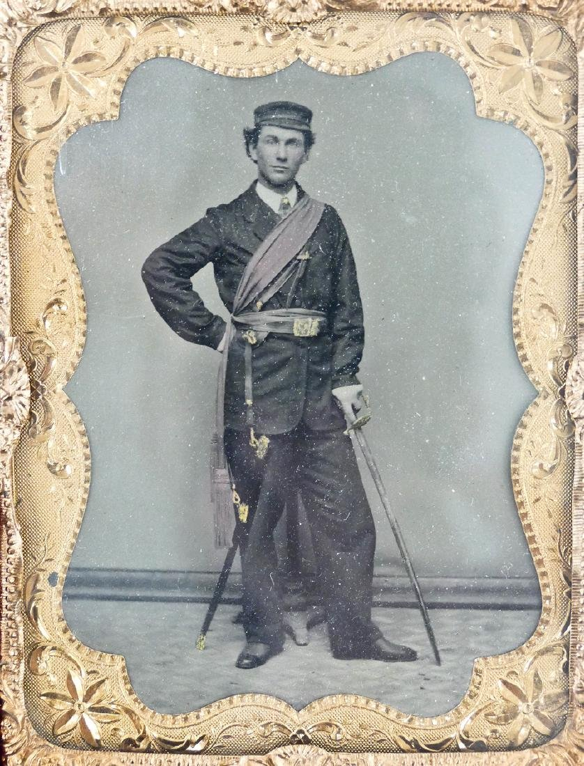 Civil War Fraternal Man with Sword Quarter Plate