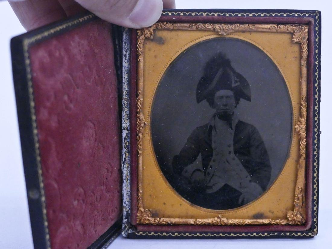 Civil War French Marshal Sixth Plate Tintype. A seated - 2